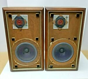 Original Large Advent Speakers Beveled Edge Good Working Condition Free Shipping