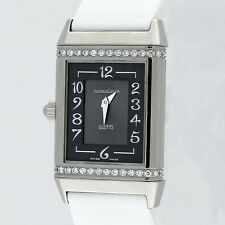 Jaeger LeCoultre Reverso Duetto Diamond SS Ladies Watch 256.8.75 Q2568401 23x38m