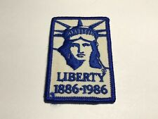 Vintage Liberty 1886 1986 Patch Statue Commemorative Monument Anniversary Blue A