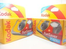 2 x KODAK FUN FLASH DISPOSABLE CAMERA WITH 39 PHOTOS by 1st CLASS ROYAL MAIL