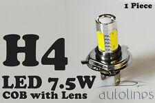 1 x H4 7.5W 12V 600LM LED COB Lens Xenon Super White Fog Lamp Globes Bulbs