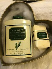 Yardley London Vintage Lily Of The Valley Talc 7 Oz And Soap Bar Gift Set W/ Box