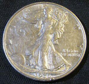 1936-S 50C Walking Liberty Half Dollar 90% Silver AN10
