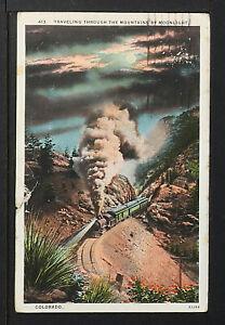 COLORADO 1092-Traveling Through the Mountains Moonlight