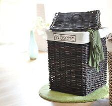 Wäschekorb Rattan Wäschetruhe Wäschesammler Wäschebox Wäschetonne Farbe: braun