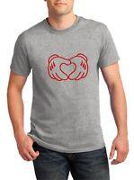 Mickey Hands Heart T Shirt Valentine's Day Boyfriend Gift Anniversary Love Cupid