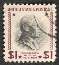 #832 $1 Woodrow Wilson, Used [3] **ANY 4=FREE SHIPPING**