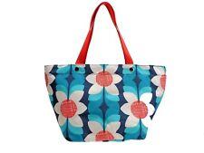 Fossil Key Per Tote Shopper Handbag Blue Multicolor Floral Top Zip New! NWT