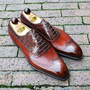 Vass Balmoral Oxford - Gold Museum / Brown Caiman