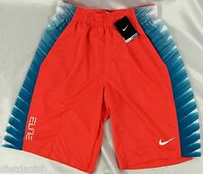 Nike MEN'S Athletic Shorts Dri-Fit Orange Color 671 Hyper Elite NWOT Size L