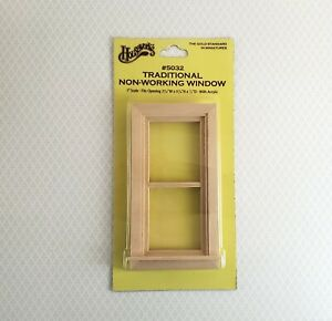 Dollhouse Miniature Window Traditional Non Working 1:12 Scale Houseworks 5032