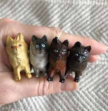 Tiny Plastic Toy Cats Persian Himalayan Birman Lot of 4 Shadow Box Trinkets Euc