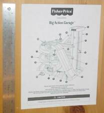 Fisher-Price pre-school Big Action Garage - instructions only
