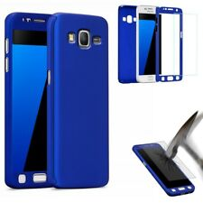 COQUE SAMSUNG GALAXY GRAND PRIME BLEU INTEGRALE 360° + 1 FILM EN VERRE TREMPÉ