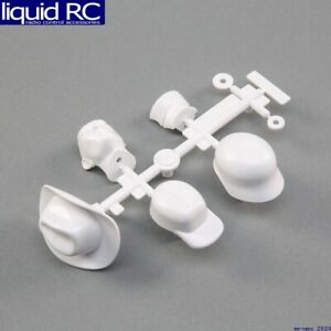 Axial Racing 31635 Drivers Head and Hat Set White