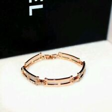 18K CT Rose Gold Filled Diamante Multi Chain Bangle made with SWAROVSKI ELEMENTS