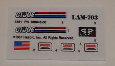 GI Joe Swampmasher Sticker Decal Sheet