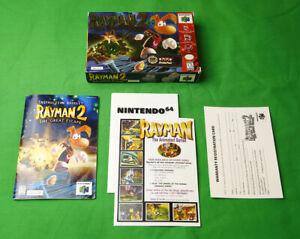 Rayman 2 : Great Escape •Nintendo 64 Console/System • 1999 N64 Ubi Box & Manual