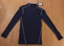 New Under Armour Men Compression Long Sleeve Small Black T Shirts Top $50!