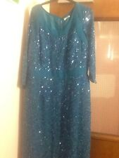 Ladies Berkertex Beaded Sequins Dress Size 16