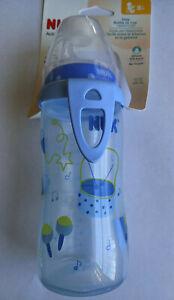NUK Active Cup 10 oz Baby Bottle BPA FREE - Soft Spout - Boys
