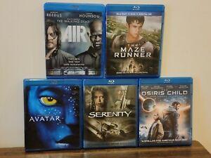 Lot of 5 Movies: Serenity, The Maze Runner, The Osiris Child, Avatar (Blu-Ray)