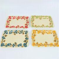 Vintage Set of 4 Airbrushed Metal Tin Snack Trays
