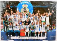 Real Madrid + Fußball Champions League 2018 Winner + Fan Big Card Edition A184 +