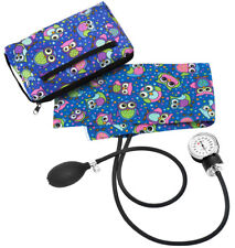 Prestige Medical Blood Pressure Cuff & Case Party Owls Royal  * NEW PRINT *