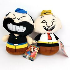 Popeye Classics Kellytoy Brutus and Wimpy 10 inch Stuffed Animals Plush Toys
