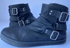 Women's Blowfish Malibu Habuki ankle boots black size US 7.5 flat buckle zipper