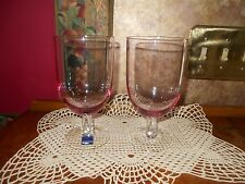 Leonardo Set of 2 Fine Crystal Iced Tea Beverage Pink Rose Quartz Glasses Stems