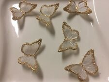 Three (3) Edible Butterflies Sugar isomalt Cake Jewel Gem Decoration 100% Edible