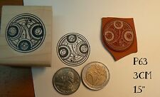 P63 Dr. Who symbol rubber stamp