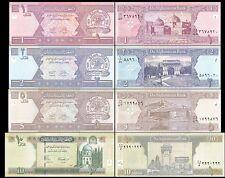 AFGHANISTAN 1 - 10 AFGHANIS BrandNew Banknotes Set 4 pcs