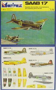 Saab B-17, Marivox, 1:72, Plastic Model Kit, New