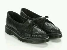 Dr Martens Siano Black Leather Oxford Shoes Hi Shine Snake Women's US 6 NEW