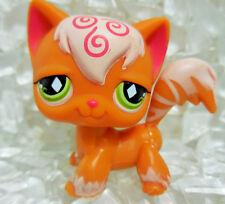 Littlest Pet Shop LPS 511 Angora Orange Cat Green Eyes Year 2007 Magnetic