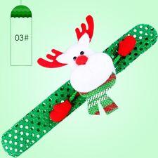 LED Light Glow Xmas Slap Circle Bracelet Wrist Band Christmas Dazzling Toy Gifts Elk