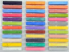 36 Soft Chalk Pastel Vibrant Assorted Color Full Size Sticks Set New