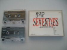 SOUNDS OF THE SEVENTIES - UK 1994 CASSETTE DOUBLE ALBUM  - 40 HITS. GTV 'SUPERB'