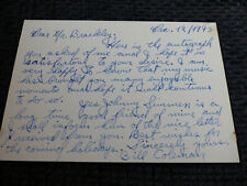 BILL COLEMAN signed 5x3.5 inch Letter JAZZ autograph InPerson LOOK