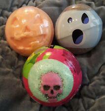 SET of 3 Bath & Body Works HALLOWEEN Bath Fizzies Ghost Pumpkin Skull Fizzy