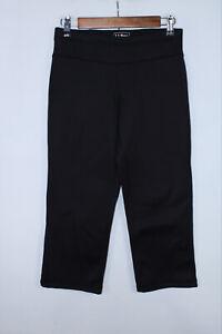L. L. Bean Women's XS Petite Black Fleece Layered Activewear Crop Pants