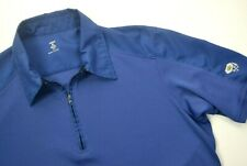 MOUNTAIN HARDWEAR Men's 1/4 Zip Short Sleeve Polyester Shirt SIZE MEDIUM Blue