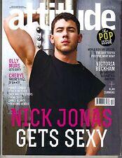 NICK JONAS UK Attitude Magazine 12/14 GETS SEXY VICTORIA BECKHAM ALAN CUMMING
