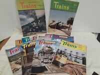 "Vintage ""Trains"" The Magazine of Railroading- 1947- Complete set of 12"