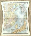 Antique Map of Eastern China Central Japan Formosa Taiwan Tokyo Korea Asia 1893