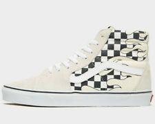 ⚫ Authentic 2019 Vans Sk8-Hi ® ( Men Size UK 7.5 9.5 10.5) Checker Flame Classic