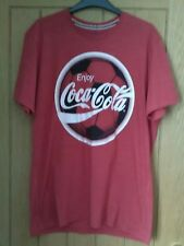 Men's Coca Cola Football Red T Shirt Size M